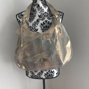 Gold Leather Design Picard Hobo Purse
